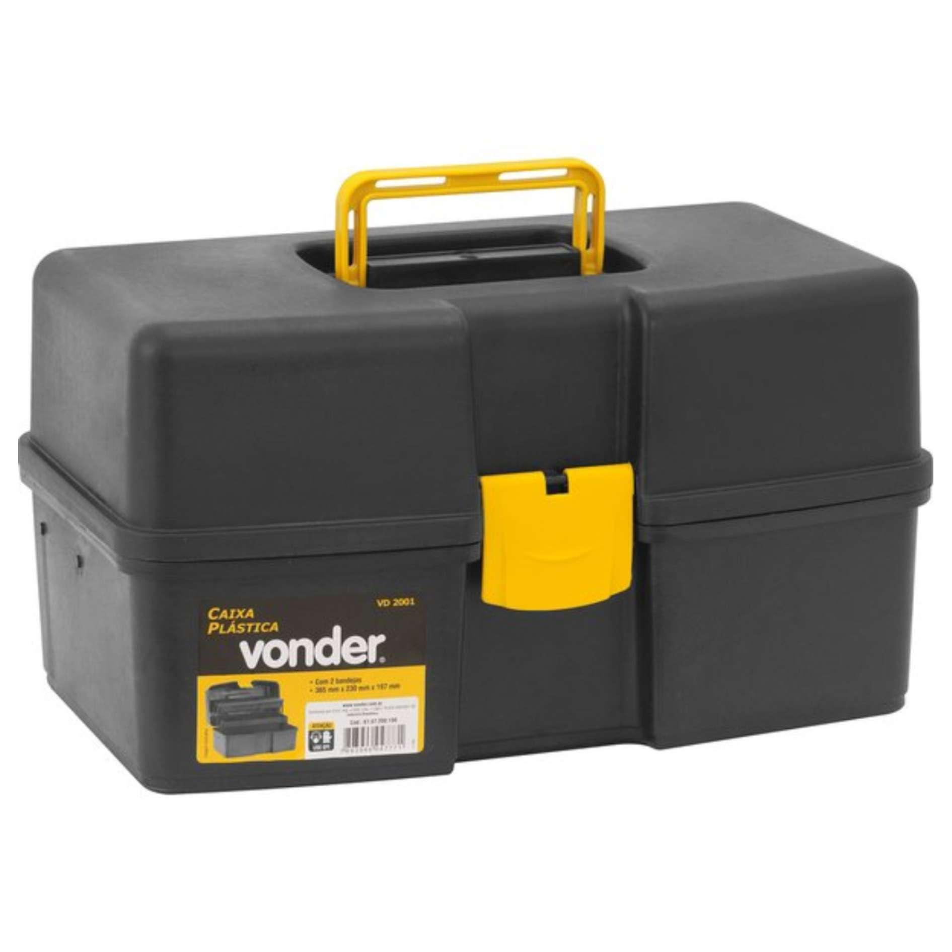 Caixa Plástica / Organizador de Ferramentas Vonder VD 2001 com 2 bandejas