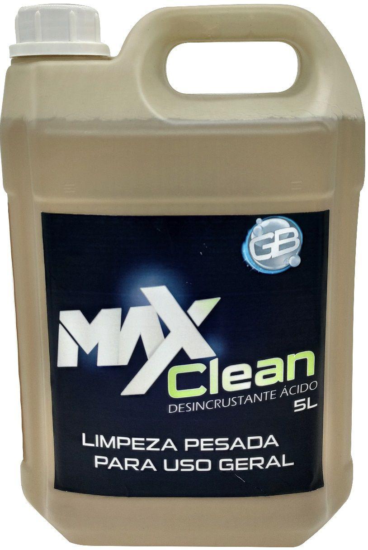 Desincrustante Ácido MaxClean para Uso Geral e Limpeza de Evaporadores de Ar Condicionado _ 5 Litros