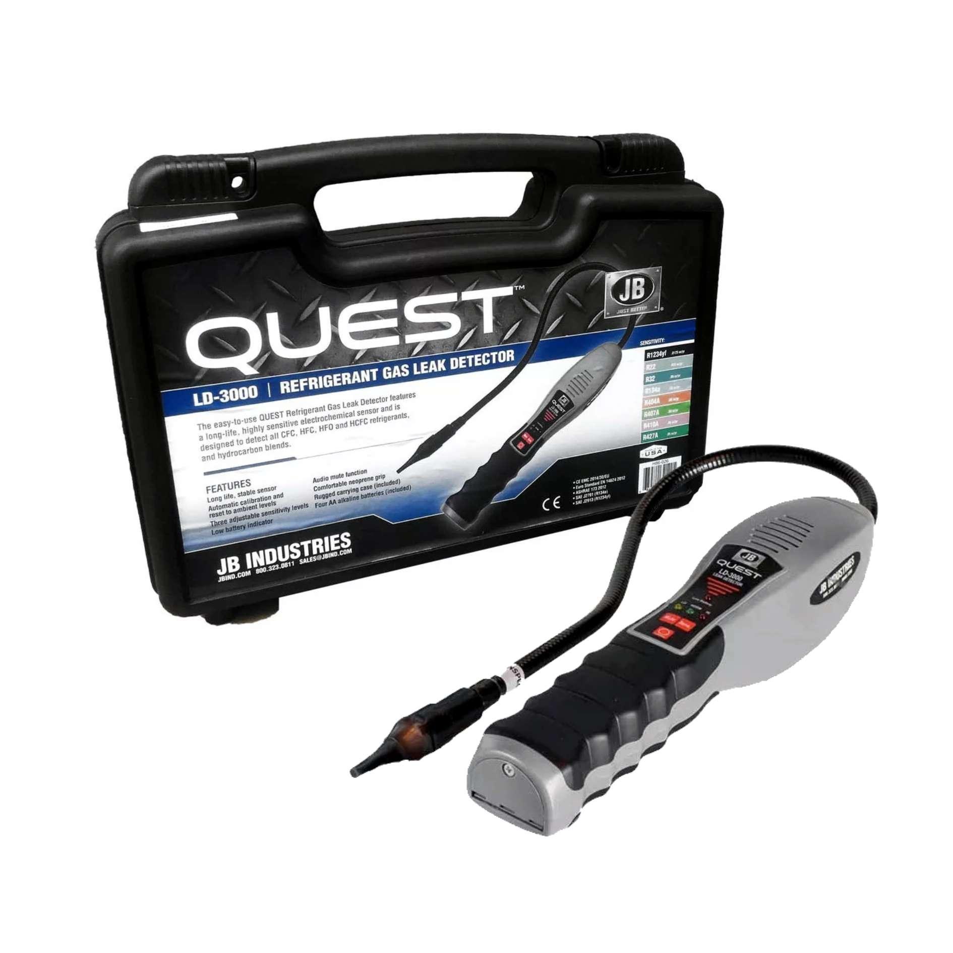 Detector de Vazamento de Gás Fluído Refrigerante JB LD-3000 Quest