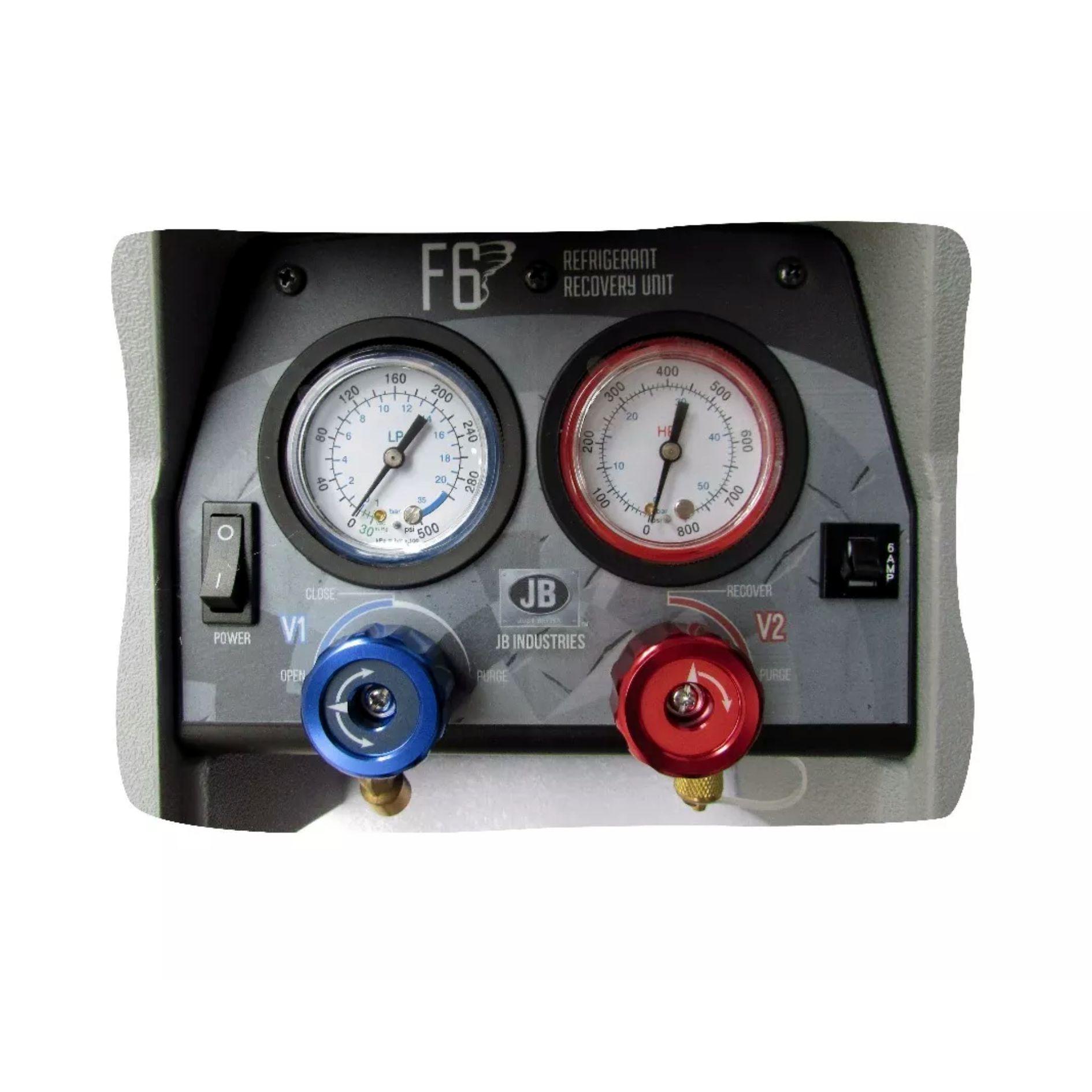 Estação Recolhedora / Recicladora de Gás Refrigerante JB Industries F6 DP250 Pistão Duplo