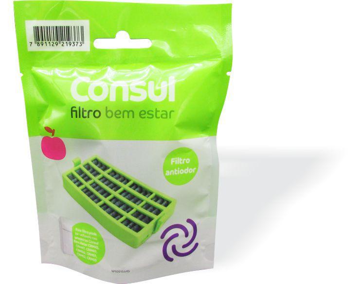 Filtro Refrigerador Consul Bem Estar  - Desodorizador e Anti Bactéria (CR801AX) - W10515645 Original  - Náutica Refrigeração e Climatização