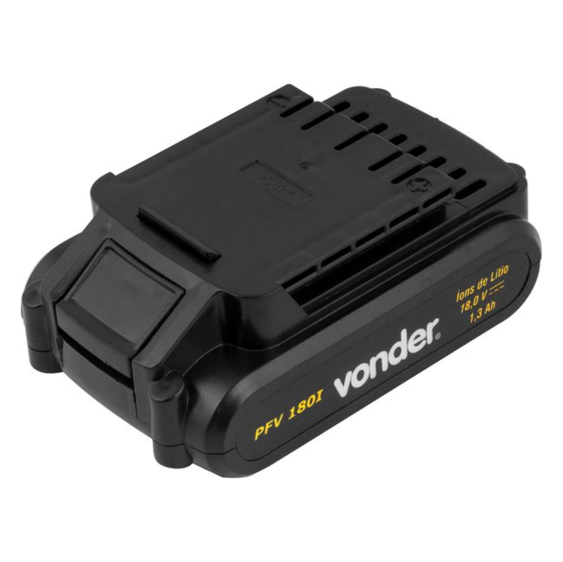 Furadeira Parafusadeira Impacto Vonder PFV180i Bateria 18v Bivolt 1450RPM