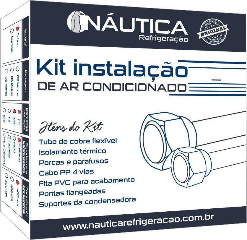 Kit Instalacao de Ar Condicionado 7 / 9.000 Btus com Suporte em Polímero de 400mm