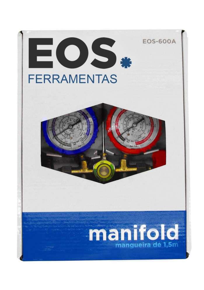"""Manifold Analógico EOS R600 Com 3 Mangueiras 1/4"""" x 150cm"""