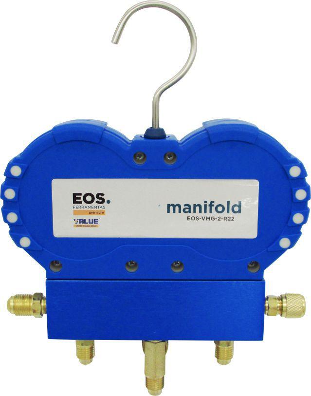 """Manifold Analógico EOS Value VMG-2-R22 _ R22 R134a R404A R407C com Mangueiras 1/4"""""""