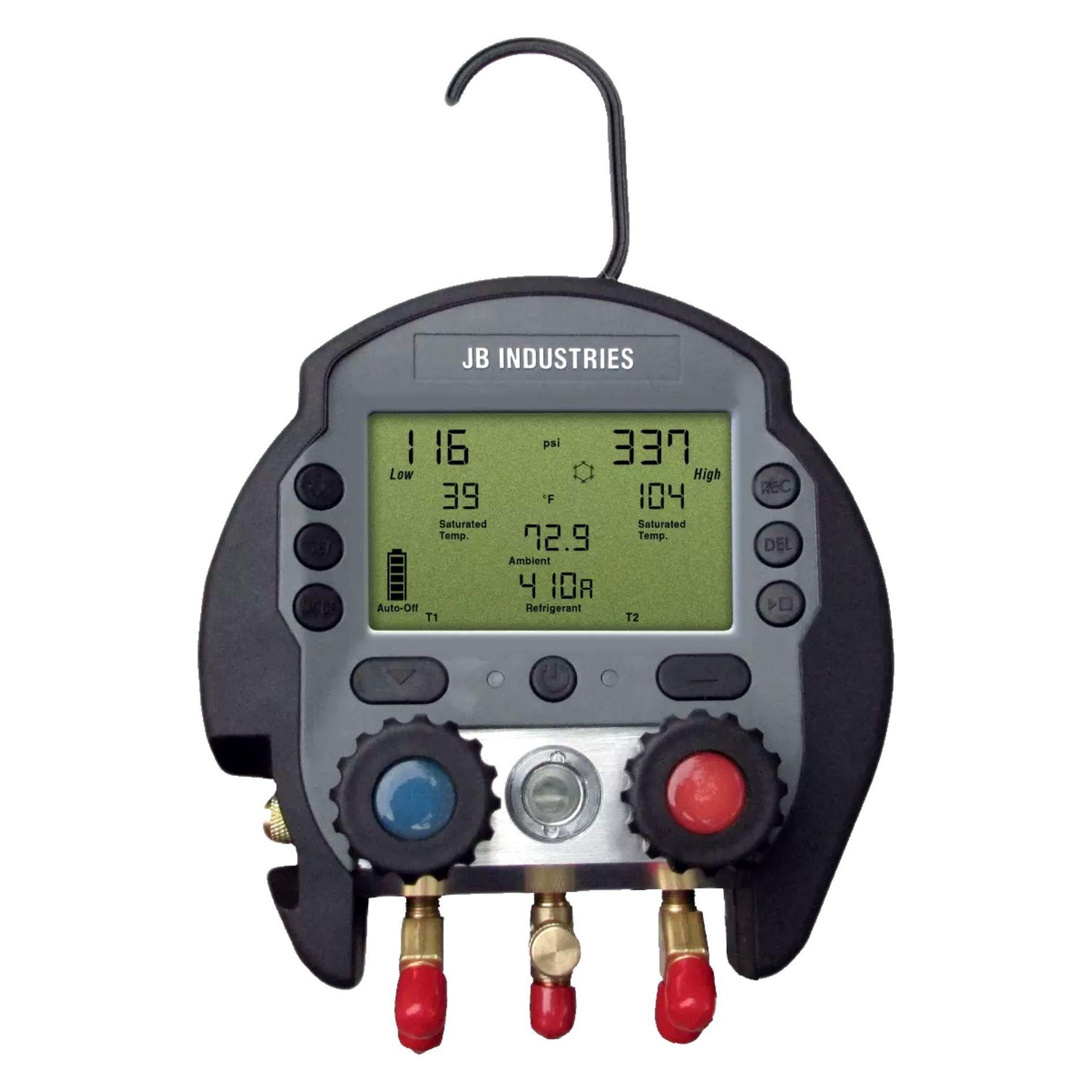 Manifold Digital JB Industries DMG2-8 82 Gases com Mangueiras e Maleta