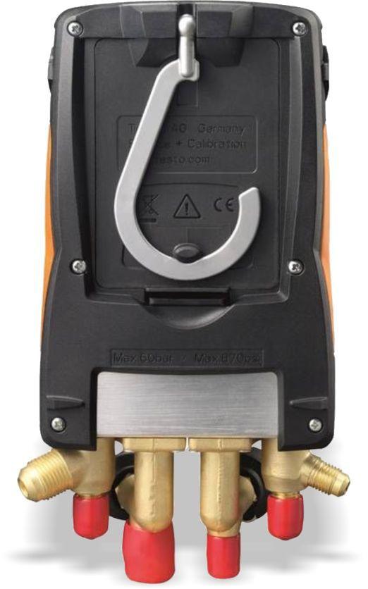 Manifold Digital Testo 557 4 Vias Superaquecimento Sub resfriamento Vacuômetro Temperatura com Maleta
