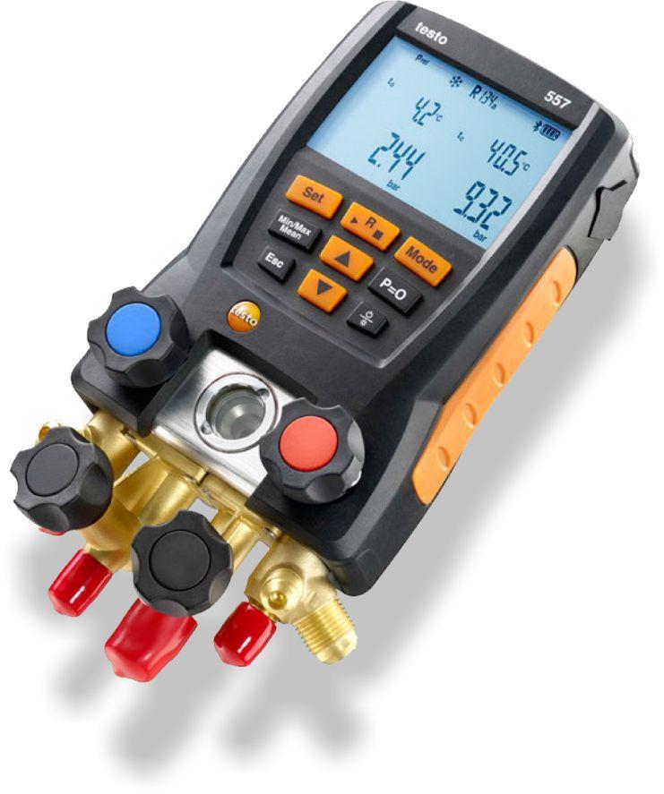 Manifold Digital Testo 557 4 Vias Superaquecimento Subresfriamento Vacuômetro Temperatura com Maleta