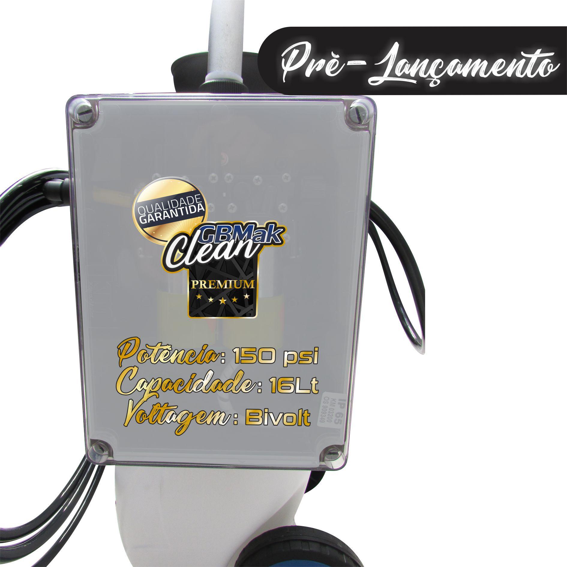 MAQUINA PARA LIMPEZA DE AR CONDICIONADO SPLIT GBMAK PREMIUM 150PSI 16 LITROS AUTOMATICA + COLETOR 30K
