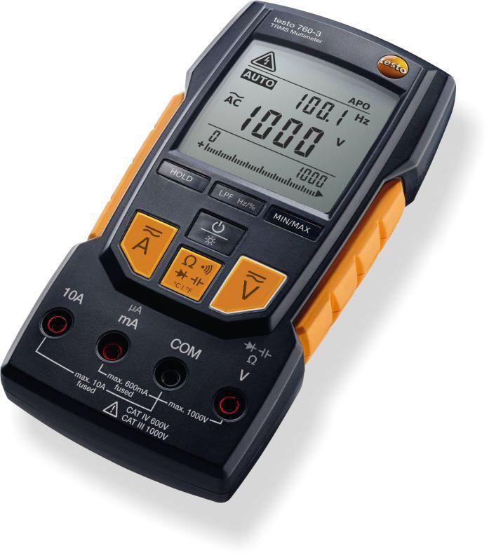 Multímetro Digital Testo 760-3 Com Tensão De Até 1.000 V e Cabos de medição