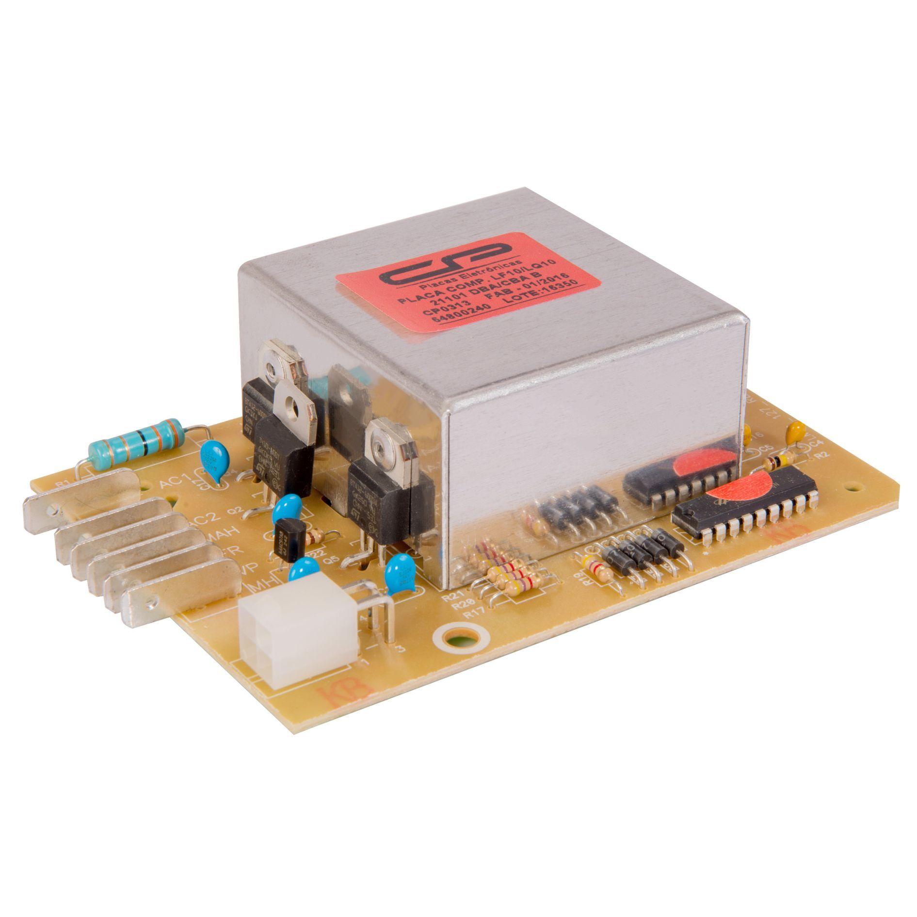 Placa Eletrônica Compatível para Lavadora Electrolux LF10 LQ10 64800240 Bivolt CP0313