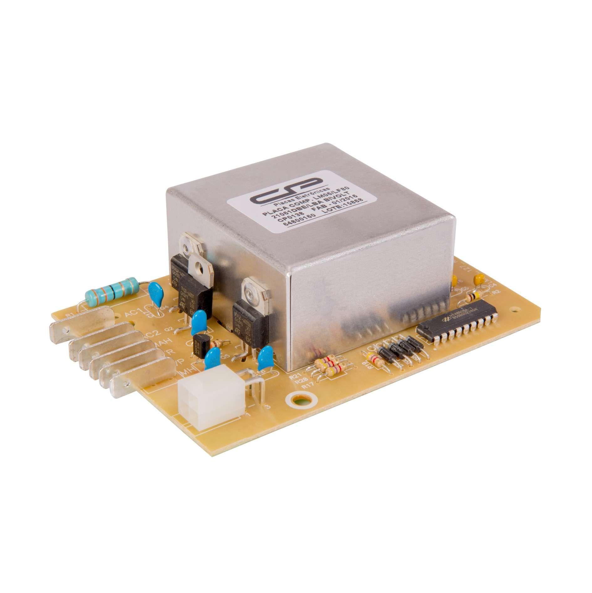 Placa Eletrônica Compatível para Lavadora Electrolux LM06 LF80 64800160 Bivolt CP0138