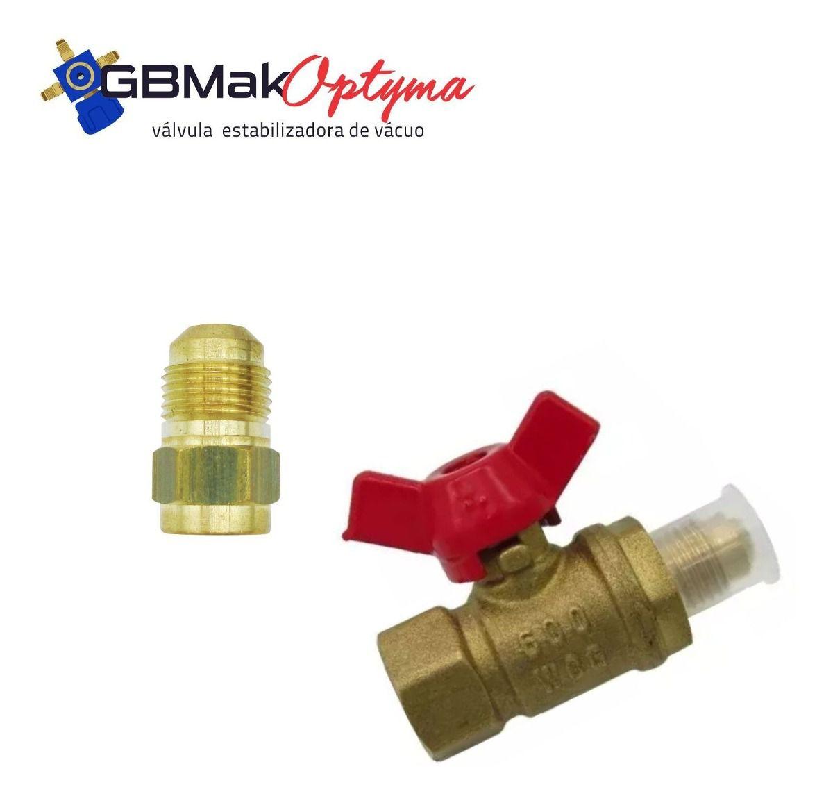 """Válvula Optyma Estabilizadora de Vácuo 1/4"""" x 1/4"""" SAE"""