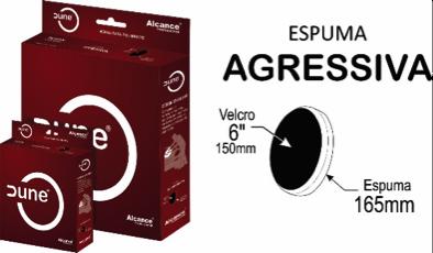 "Alcance - Boina de Espuma Dune - Agressiva - 85mm (3,4"")   - Loja Go Eco Wash"