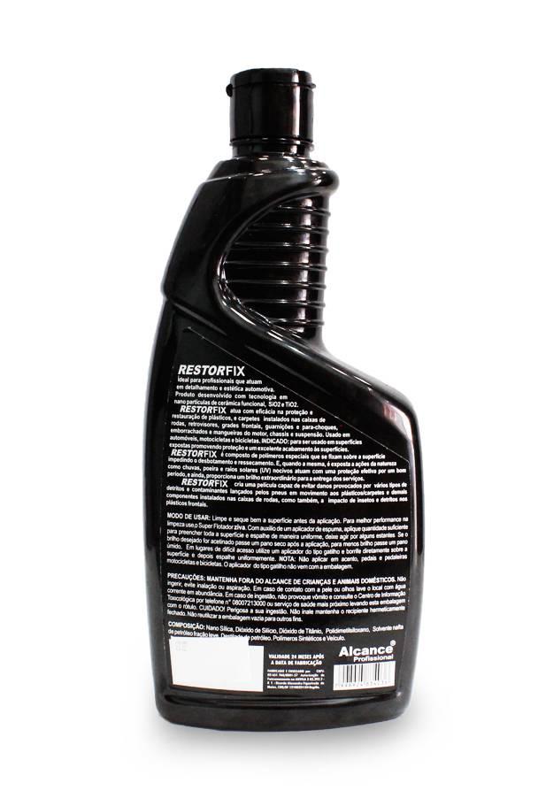 Alcance - RestorFix - Restaura e Protege Plásticos e Borrachas - USO EXTERNO - 700ml  - Loja Go Eco Wash