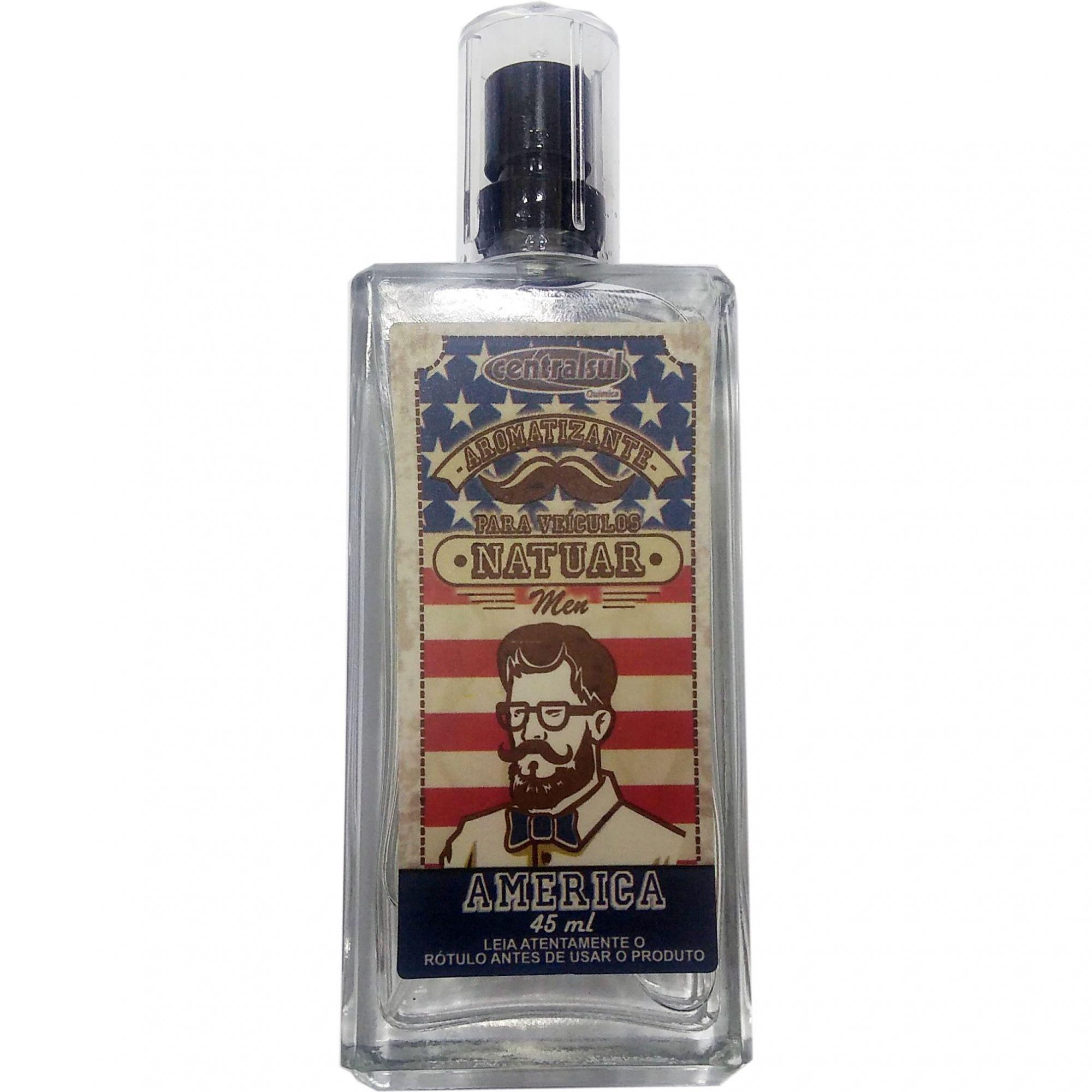 Aromatizante Natuar Men America 45ml Centralsul  - Loja Go Eco Wash