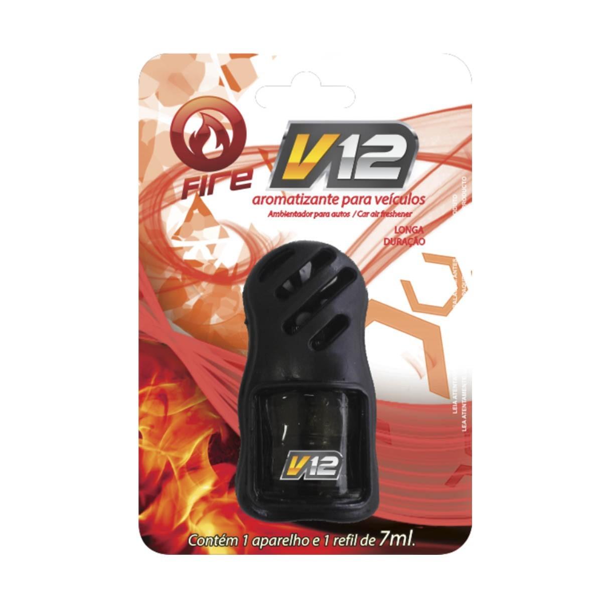 Aromatizante Painel de veículos V12 - FIRE (7ml) Centralsul  - Loja Go Eco Wash