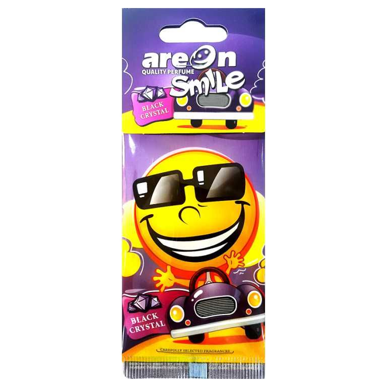 Aromatizante para carro Smile Areon - Black Crystal - Loja Go Eco Wash