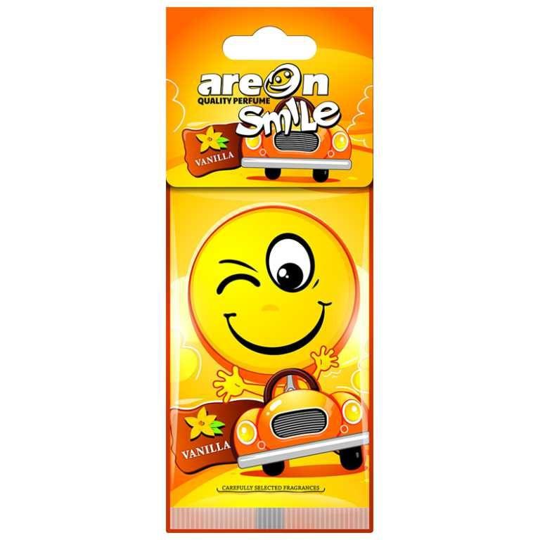 Aromatizante para carro Smile Areon - Vanilla  (Baunilha  Suave)  - Loja Go Eco Wash
