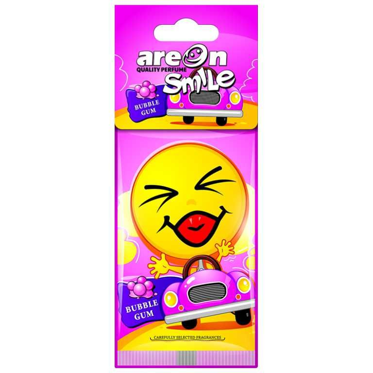 Aromatizante para carro Smile Areon - Bubble Gum (Chiclete)  - Loja Go Eco Wash