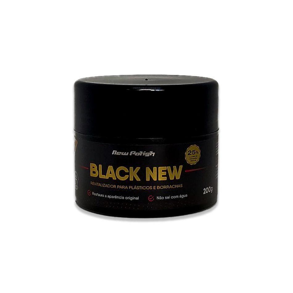 Black New 200g - Revitalizador de Plásticos New Polish  - Loja Go Eco Wash