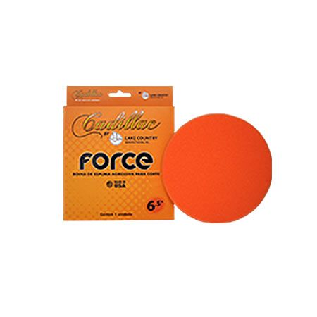 "Cadillac Boina de Espuma Agressiva Laranja Force by Lake Country 3.5""  - Loja Go Eco Wash"
