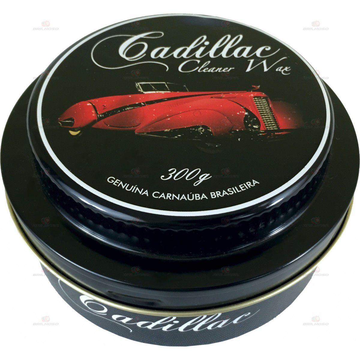 Cadillac Cera de Carnauba Cleaner Wax - 300g  - Loja Go Eco Wash