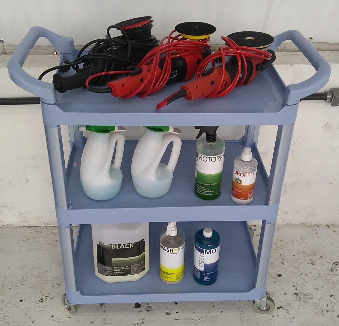 Carrinho Utilitário 3 bandejas Perfect   - Loja Go Eco Wash