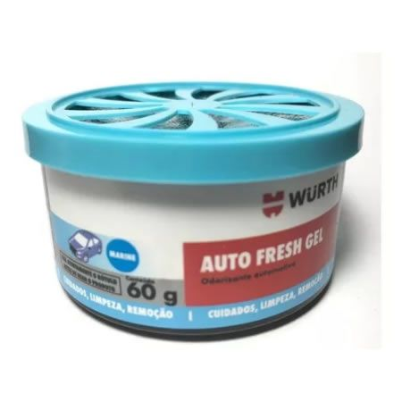 CHEIRINHO ODORIZADOR AUTO FRESH GEL WURTH - MARINE  - Loja Go Eco Wash