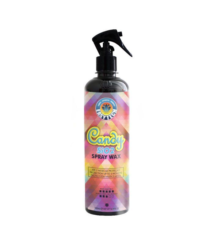 Easytech Candy Spray Wax 500ml - Cera Protetora SiO2  - Loja Go Eco Wash