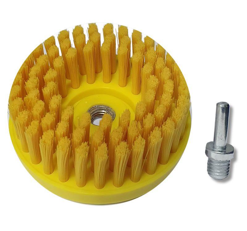 Escova Limpeza Estofados Macia - Politriz e Furadeira c/ adaptador   - Loja Go Eco Wash