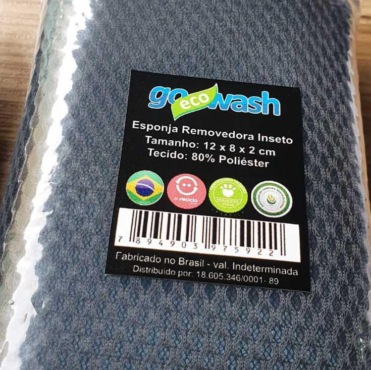 Esponja Removedora de Insetos 08cm x 12cm - Go Eco Wash  - Loja Go Eco Wash
