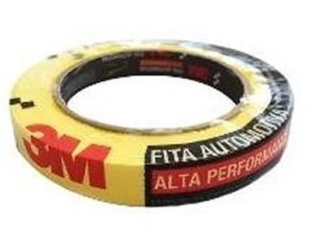 Fita Crepe Amarela Alta Performance 3M (16mm X 40m)  UN  - Loja Go Eco Wash