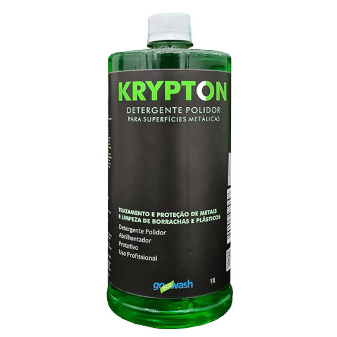 Krypton Detergente Polidor para Metais, Borrachas  e Plásticos 1lt (Go Eco Wash)  - Loja Go Eco Wash