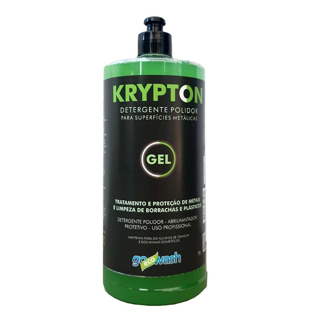Krypton GEL Detergente Polidor para Metais, Borrachas  e Plásticos 1lt (Go Eco Wash)  - Loja Go Eco Wash