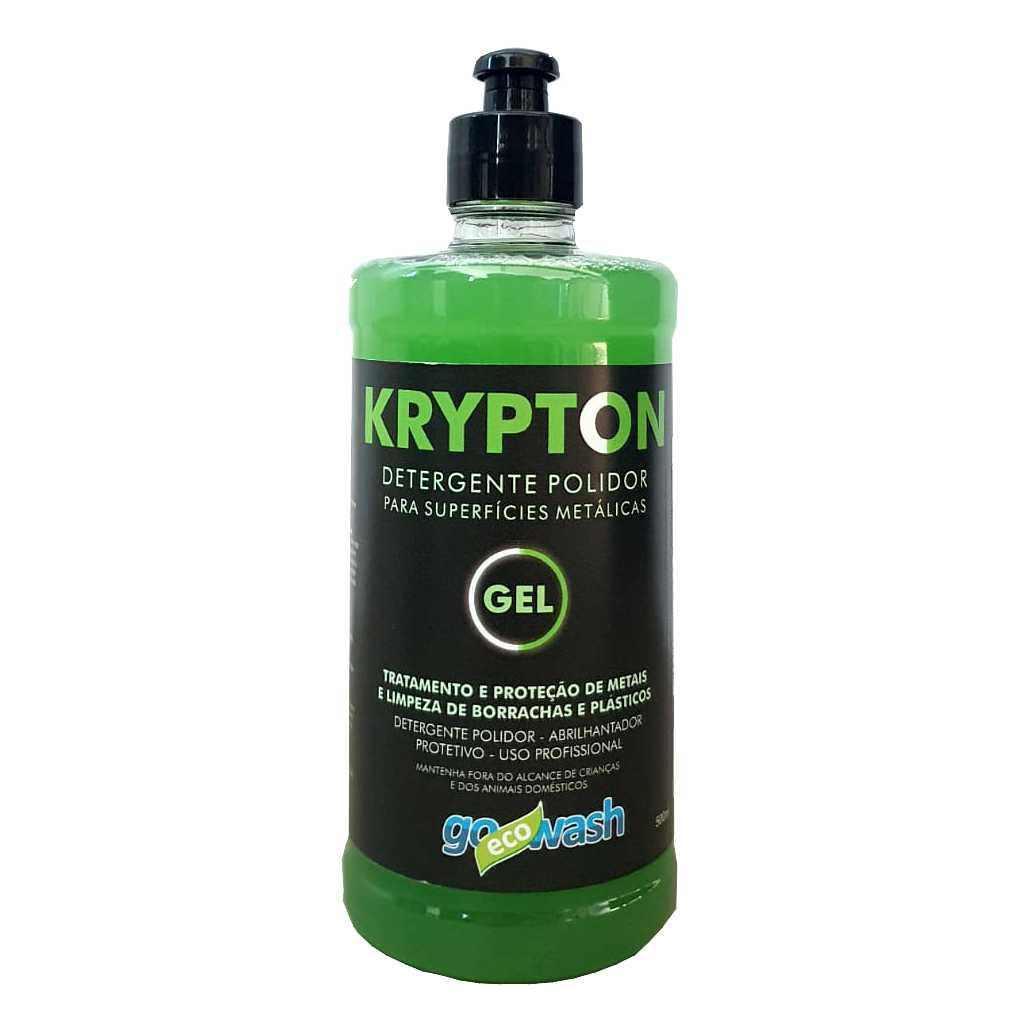 Krypton GEL Detergente Polidor para Metais, Borrachas  e Plásticos 500ml (Go Eco Wash)  - Loja Go Eco Wash