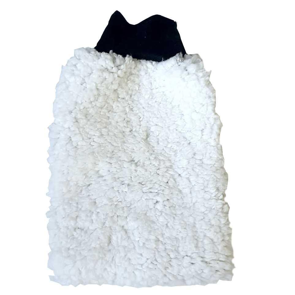 Luva de Microfibra Branca Extra Macia - Go Eco Wash  - Loja Go Eco Wash
