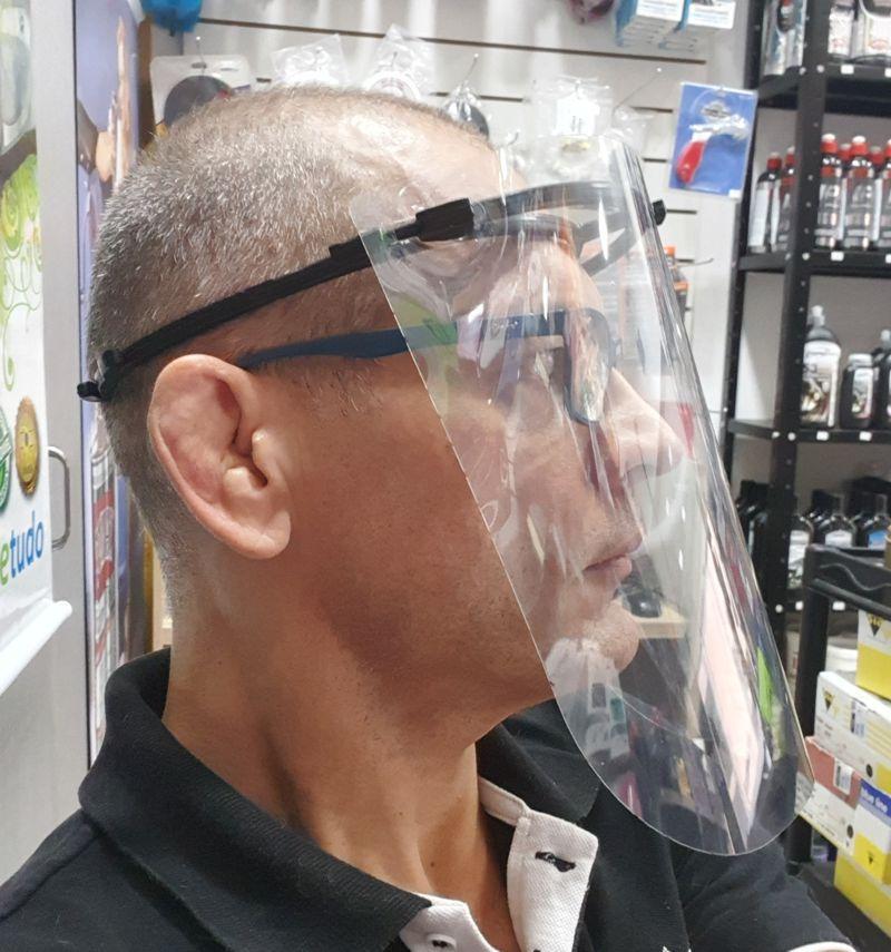 Protetor Facial Face Shield - Máscara de Acetato - ABNT  - Loja Go Eco Wash