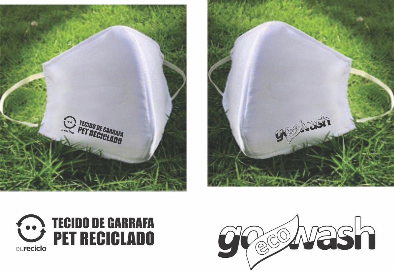 Máscara de Tecido Reciclado de Garrafa PET - Go Eco Wash  - Loja Go Eco Wash