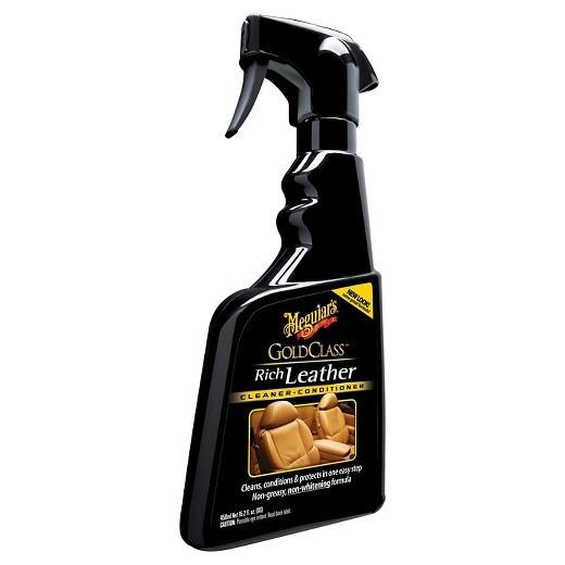 Meguiars Gold Class Rich Leather Spray - Limpa e Hidrata Couro - G10916 - (450ml)  - Loja Go Eco Wash