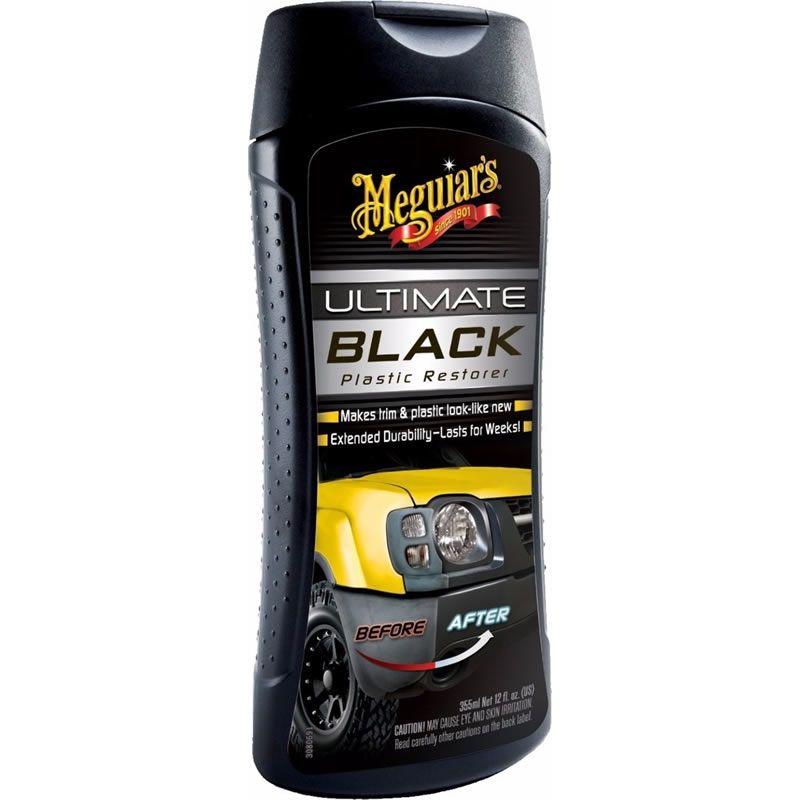 Meguiars Ultimate Black Plastic Restorer - Restaurador de Plásticos - G15812  -(355ml)  - Loja Go Eco Wash