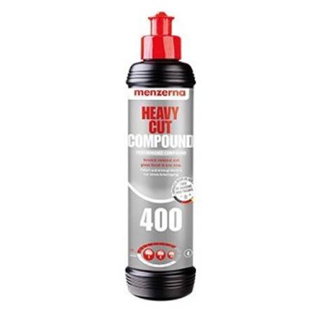Menzerna 400 Heavy Cut Composto Polidor Corte Pesado - 250ml  - Loja Go Eco Wash