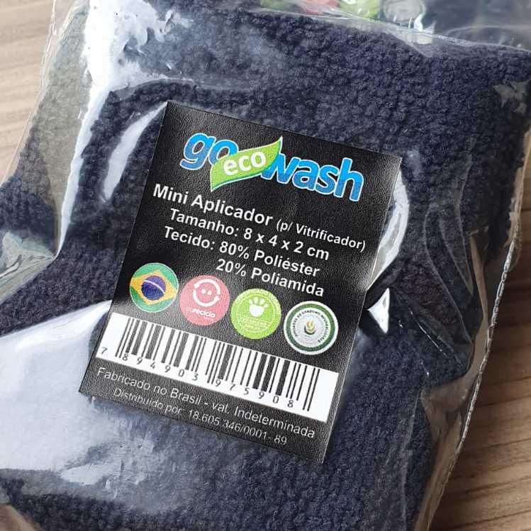 Mini Aplicador de Microfibra 2 unidades - 08 x 04 cm - Go Eco Wash  - Loja Go Eco Wash
