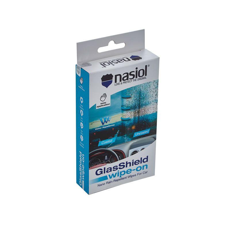 NASIOL GLASSHIELD WIPE-ON REPELENTE DE LÍQUIDOS PARA VIDROS  - Loja Go Eco Wash