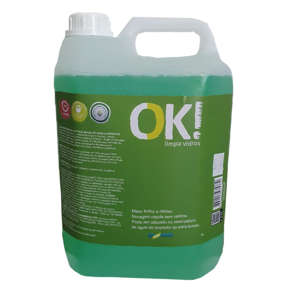 OK! Limpa Vidros - 5lt Go Eco Wash  - Loja Go Eco Wash