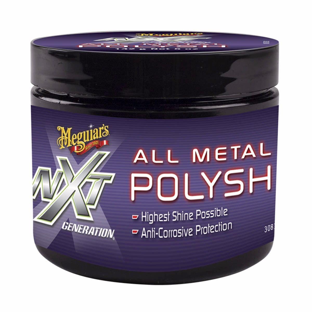 Polidor De Metais E Cromados NXT 142g - G13005 - Meguiars  - Loja Go Eco Wash