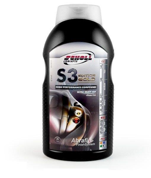 Scholl S3 Gold – Composto Polidor de Corte Premium – 1Kg  - Loja Go Eco Wash