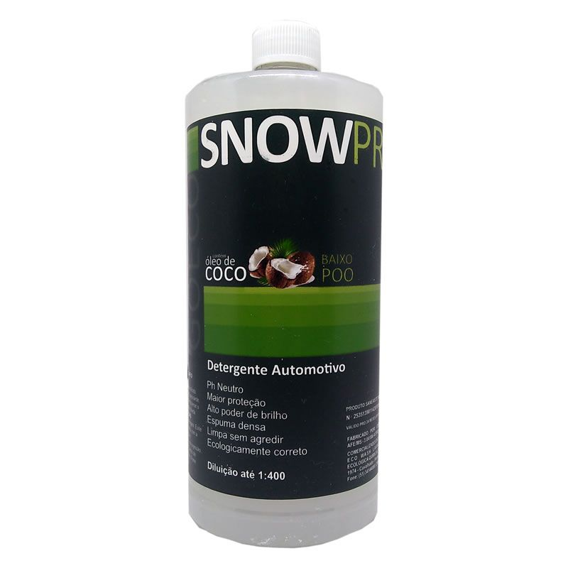 SNOWPRO Shampoo Automotivo com óleo de coco 1lt (Go Eco Wash)  - Loja Go Eco Wash