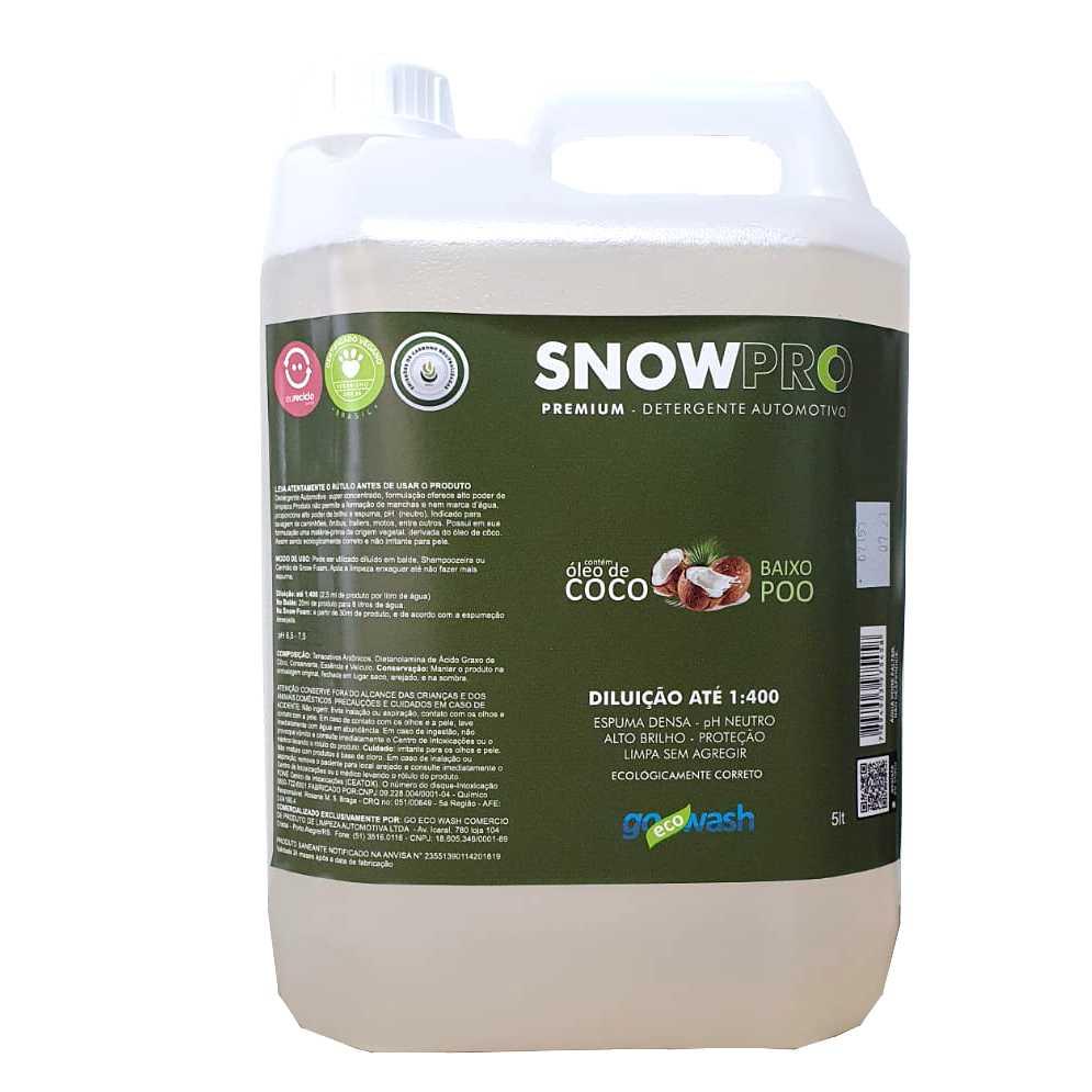 SNOWPRO Shampoo Automotivo com óleo de coco 5lt (Go Eco Wash)  - Loja Go Eco Wash