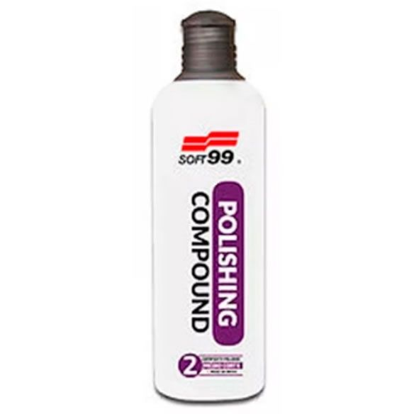 SOFT99 Polidor 2  Polishing Corte Médio/Refino 300ml    - Loja Go Eco Wash